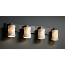 <strong>Justice Design Group</strong> Modular Limoges 4 Light Bath Vanity Light