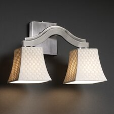 <strong>Justice Design Group</strong> Limoges Bend 2 Light Wall Sconce