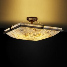 <strong>Justice Design Group</strong> Alabaster Rocks Ring 3 Light Semi Flush Mount