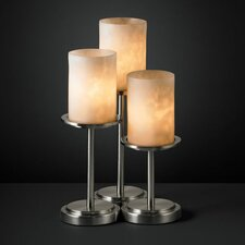 """Clouds Dakota Portable 16"""" H Table Lamp with Drum Shade (Set of 3)"""