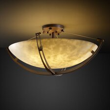 <strong>Justice Design Group</strong> Clouds Crossbar 6 Light Semi Flush Mount