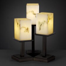 """LumenAria Montana Portable 16.75"""" H Table Lamp with Square Shade"""