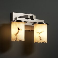 <strong>Justice Design Group</strong> LumenAria Dakota 2 Light Bath Vanity Light