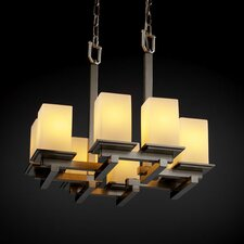 <strong>Justice Design Group</strong> Fusion Montana 8 Light Chandelier