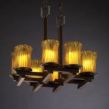 <strong>Justice Design Group</strong> Veneto Luce Dakota 8 Light Chandelier