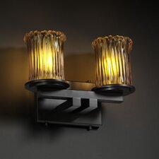 <strong>Justice Design Group</strong> Veneto Luce Dakota 2 Light Bath Vanity Light