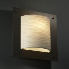 <strong>Justice Design Group</strong> Porcelina Framed 1 Light Wall Sconce