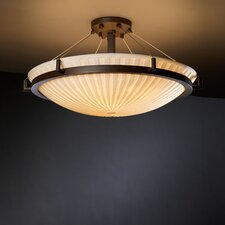 Porcelina Ring 8 Light Semi Flush Mount