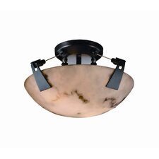 Tapered Clips LumenAria 2 Light Semi Flush Mount