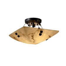 <strong>Justice Design Group</strong> Finials LumenAria 2 Light Semi Flush Mount