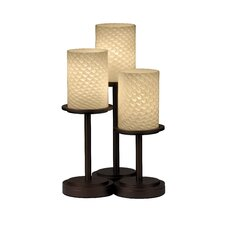 "Dakota Fusion 16"" H Table Lamp with Drum Shade (Set of 3)"