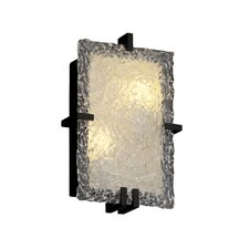 <strong>Justice Design Group</strong> Clips Veneto Luce Rectangular 2 Light Wall Sconce