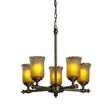 <strong>Justice Design Group</strong> Tradition Veneto Luce 5 Light Chandelier
