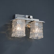 <strong>Justice Design Group</strong> Montana Veneto Luce 2 Light Bath Vanity Light