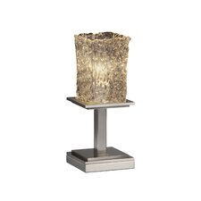 """Montana Veneto Luce Short 12.75"""" H Table Lamp with Square Shade"""
