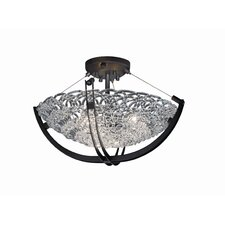 <strong>Justice Design Group</strong> Crossbar Veneto Luce 3 Light Semi Flush Mount