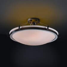 Ring Porcelina Round Semi Flush Mount