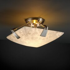 Tapered Clips Clouds 2 Light Semi Flush Mount