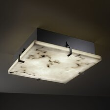 LumenAria Clips 4 Light Square Flush Mount
