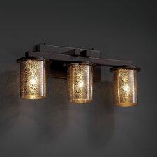 Fusion Dakota 3 Light Straight-Bar Bath Vanity Light