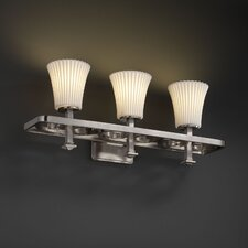 <strong>Justice Design Group</strong> Limoges Arcadia 3 Light Bath Vanity Light