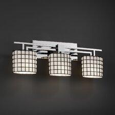 Wire Glass Aero 3 Light Bath Vanity Light
