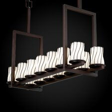 <strong>Justice Design Group</strong> Wire Glass Dakota 3 Light Straight Bar Bath Vanity Light
