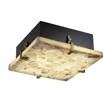 Alabaster Rocks Clips 2 Light Square Flush Mount