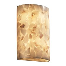 <strong>Justice Design Group</strong> Alabaster Rocks Two Light Wall Sconce with Resin