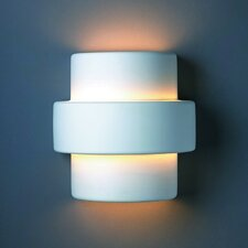 <strong>Justice Design Group</strong> Ambiance Step 1 Light Outdoor Wall Sconce