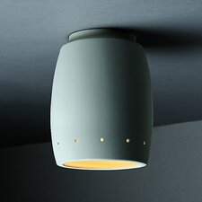 Radiance Curved 1 Light Outdoor Flush Mount