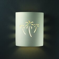 Sun Dagger Open Top and Bottom Small Cylinder 1 Light Wall Sconce