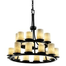 <strong>Justice Design Group</strong> Clouds Dakota 21 Light Chandelier