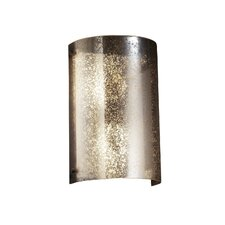 Fusion Finials Curved 2 Light Wall Sconce