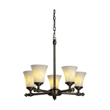 <strong>Justice Design Group</strong> Fusion Tradition 5 Light Chandelier