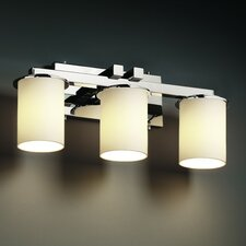 <strong>Justice Design Group</strong> Fusion Dakota 3 Light Bath Vanity Light