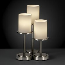 """Fusion Dakota Portable 16"""" H Table Lamp with Drum Shade (Set of 3)"""