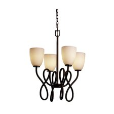 Fusion Capellini 4 Light Chandelier