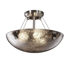 Fusion Semi Flush Bowl with Pair Cylindrical Finials
