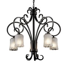 <strong>Justice Design Group</strong> Victoria 5 Light Downlight Chandelier