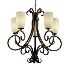 <strong>Justice Design Group</strong> Limoges Victoria 5 Light Uplight Chandelier