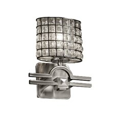 <strong>Justice Design Group</strong> Wire Glass Argyle 1 Light Wall Sconce