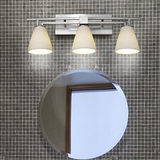 <strong>Justice Design Group</strong> Aero Limoges 3 Light Bath Vanity Light