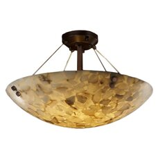 Alabaster Rocks 3 Light Semi Flush Mount