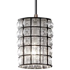 Wire Glass 1 Light Mini Pendant