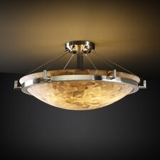 Alabaster Rocks Ring 3 Light Semi Flush Mount