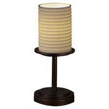 """Limoges Dakota Portable 12"""" H Table Lamp with Drum Shade"""