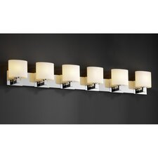 <strong>Justice Design Group</strong> Fusion Modular 6 Light Bath Vanity Light