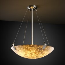 <strong>Justice Design Group</strong> Alabaster Rocks U-Clips 8 Light Semi Flush Mount