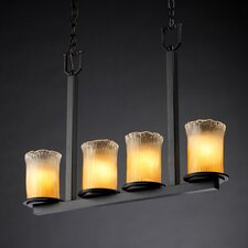 <strong>Justice Design Group</strong> Veneto Luce Dakota 4 Light Chandelier